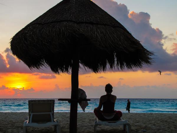 Мексика.  Полуостров Юкатан. закат1