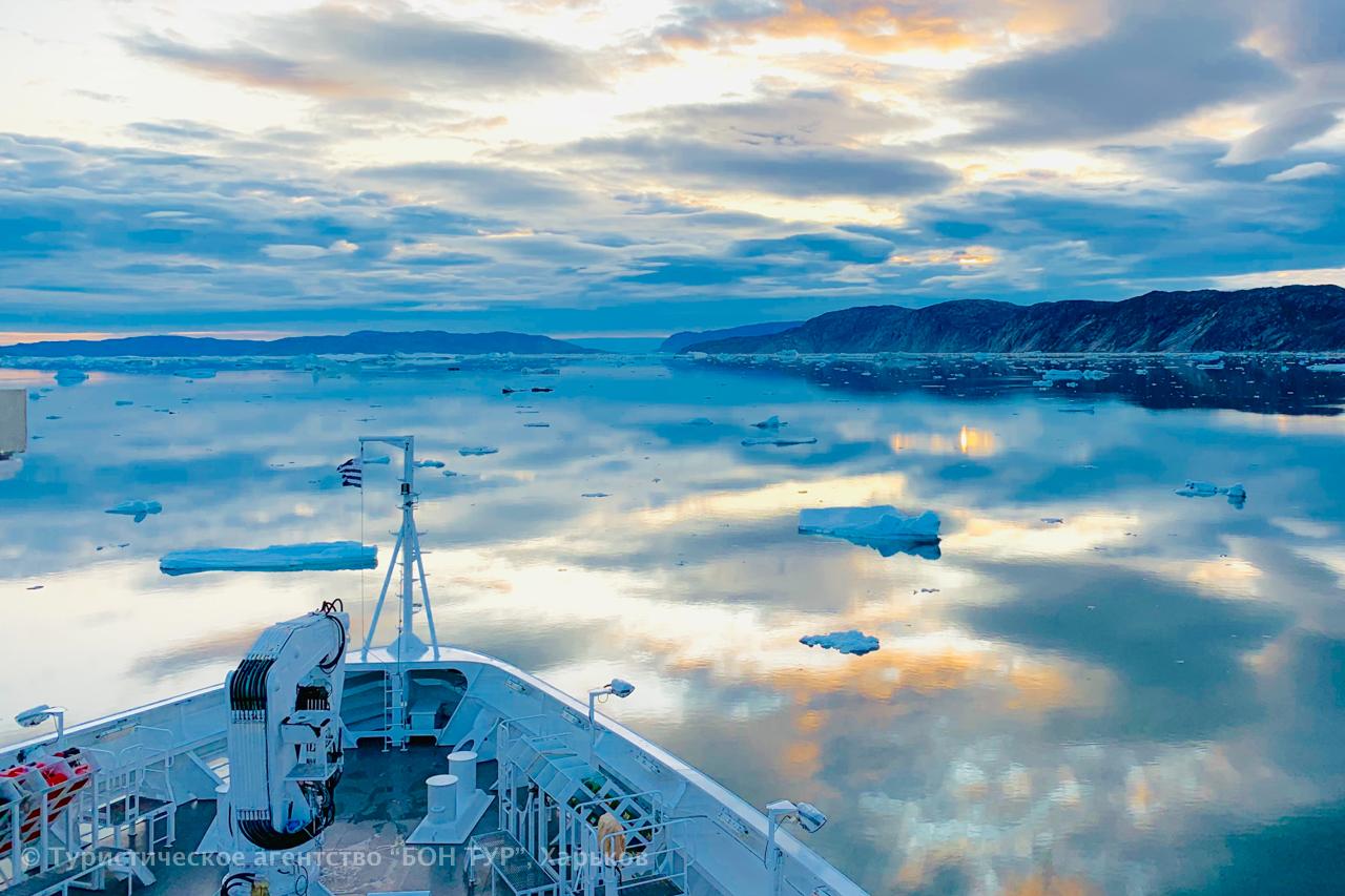 Гренландия-круиз-Disko Bay-Ледник Эки-1-3